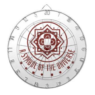 Symbol of universe dartboard