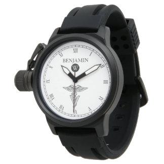 Symbol of Veterinary Medicine Custom Name Wrist Watch