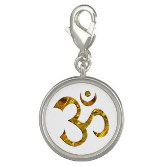 Symbol OM / AUM - gold + your background Charms