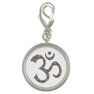 Symbol OM / AUM - silver + your background Photo Charm