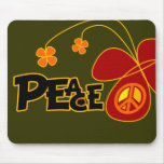 Symbol Peace Of Sign Butterfly Mousepad