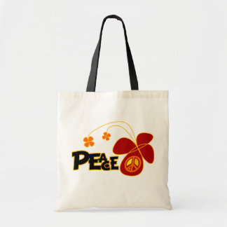 Symbol Peace Of Sign Butterfly Tote Bag