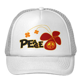 Symbol Peace Of Sign Butterfly Trucker Hat