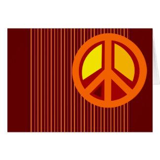Symbol Peace Red Orange Yellow Greeting Cards