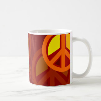 Symbol Peace Red Orange Yellow Mug