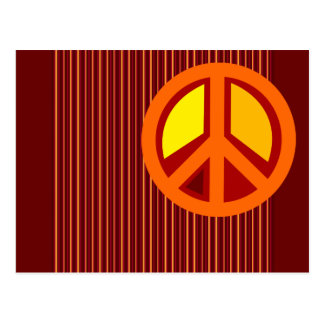 Symbol Peace Red Orange Yellow Postcard