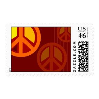 Symbol Peace Red Orange Yellow Stamps