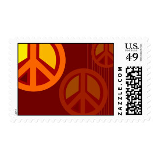 Symbol Peace Red Orange Yellow Stamps