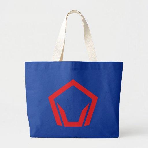 Symbol pentagon Pentagon Canvas Bag