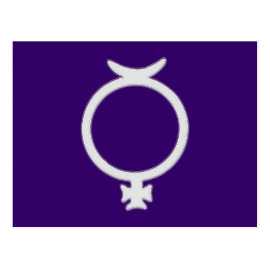 Symbol planet Merkur Mercury Postcard