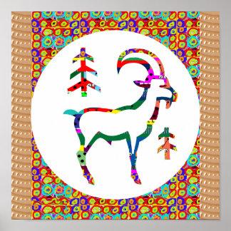 Symbol RAM Animal Wild farm zoo Poster