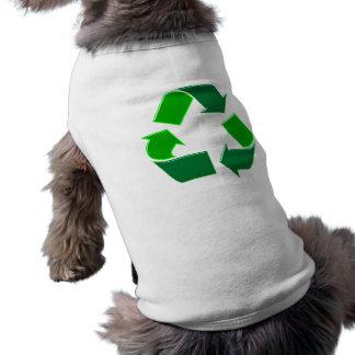 Symbol recycling hund t shirt