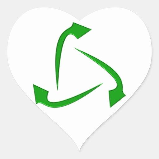 Symbol recycling sticker