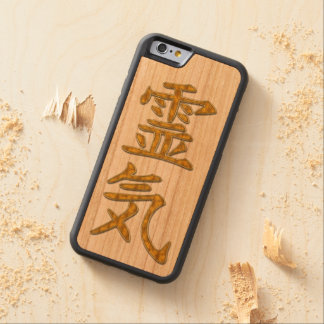 Symbol REIKI gold + your background Carved® Cherry iPhone 6 Bumper Case