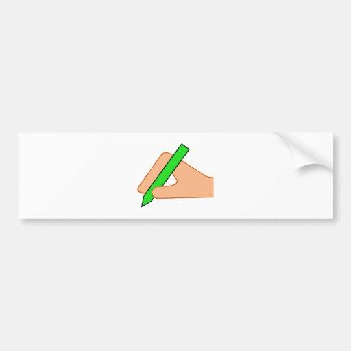 Symbol schreiben Hand Stift write pen Autosticker