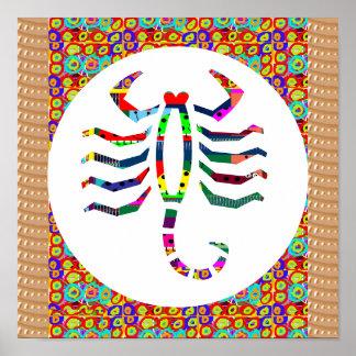 Symbol Scorpio Insect Stinger Zoo Wild Zodiac Gift Poster