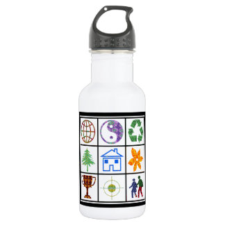 SYMBOL shapes TEMPLATE Resellers Welcome 18oz Water Bottle