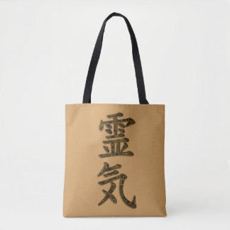 Symbol / Sign REIKI gold splatter + your backgr. Tote Bag
