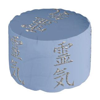 Symbol / Sign REIKI silver + your ideas Pouf