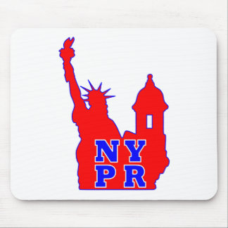Symbol that represents both NY and PR identity Mouse Pad