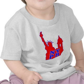 Symbol that represents both NY and PR identity Tee Shirt