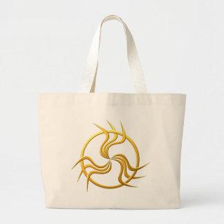 Symbol three-way threefold large tote bag
