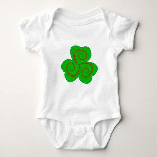 Symbol Triskele clover sheet shame skirt Baby Bodysuit