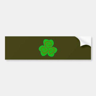 Symbol Triskele clover sheet shame skirt Bumper Sticker
