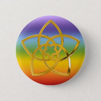 Symbol Venus Flower / GOLD Button