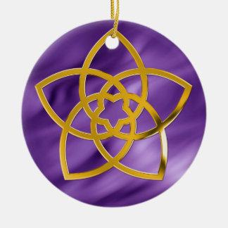 Symbol Venus Flower / GOLD | lila waves Christmas Ornaments