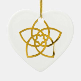Symbol Venus Flower / GOLD Christmas Tree Ornament