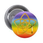 Symbol Venus Flower / GOLD Pinback Buttons