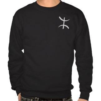 symbole aza argent pull over sweatshirt