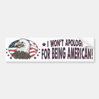 Symbolic American Eagle Car Bumper Sticker