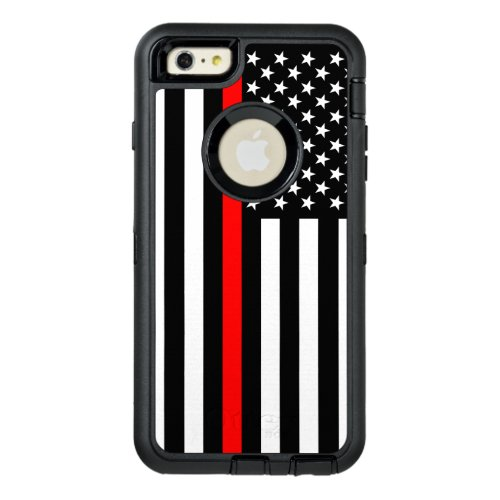 Symbolic American Flag Thin Red Line on Phone Case