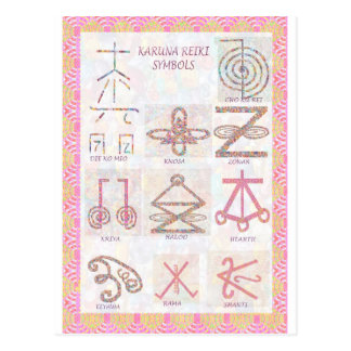Symbolic ART : Reiki Masters Practice Tools Postcard