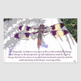 Symbolic Dragonfly Rectangular Sticker