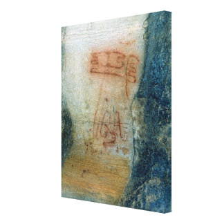 Symbolic figures (cave painting) canvas print