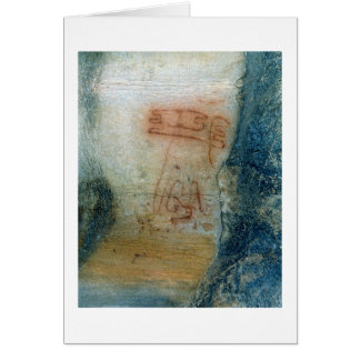 Symbolic figures (cave painting) card