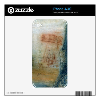 Symbolic figures (cave painting) iPhone 4 skin