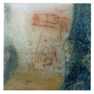 Symbolic figures (cave painting) tile