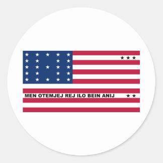 Symbolic Flag of Bikini Atoll Marshall Islanders Classic Round Sticker