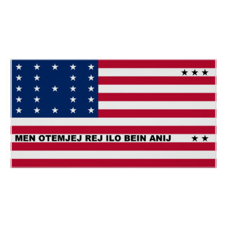 Symbolic Flag of Bikini Atoll Marshall Islanders Poster