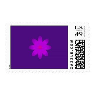 Symbolic Flower Postage Stamp