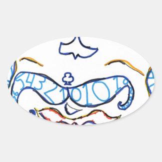 Symbolic Gentleman Oval Sticker