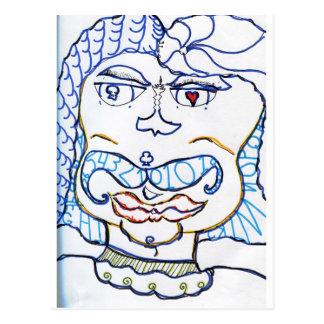 Symbolic Gentleman Postcard