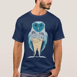 Symbolic Owl Music Inspired Graphic Art Shirt