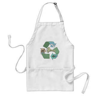 Symbolic Recycling is Key by Mudge Studios Aprons