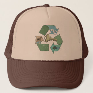 Symbolic Recycling is Key by Mudge Studios Trucker Hat