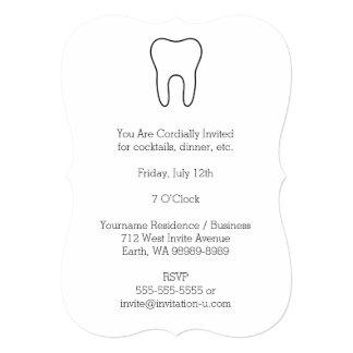 Symbolic Tooth 5x7 Paper Invitation Card